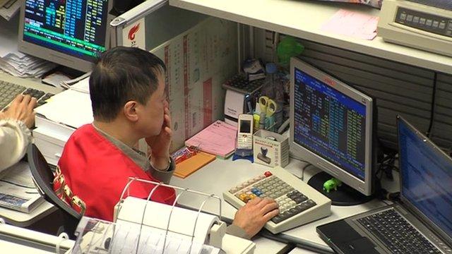 Hong Kong stock exchange trader