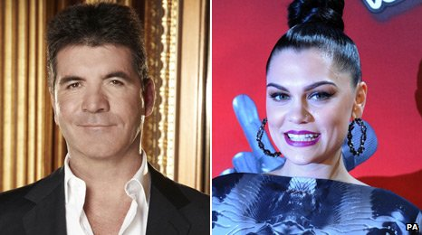Simon Cowell and Jessie J