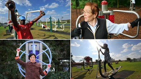 The rise of the adult playground. Montage of four images featuring adults ...