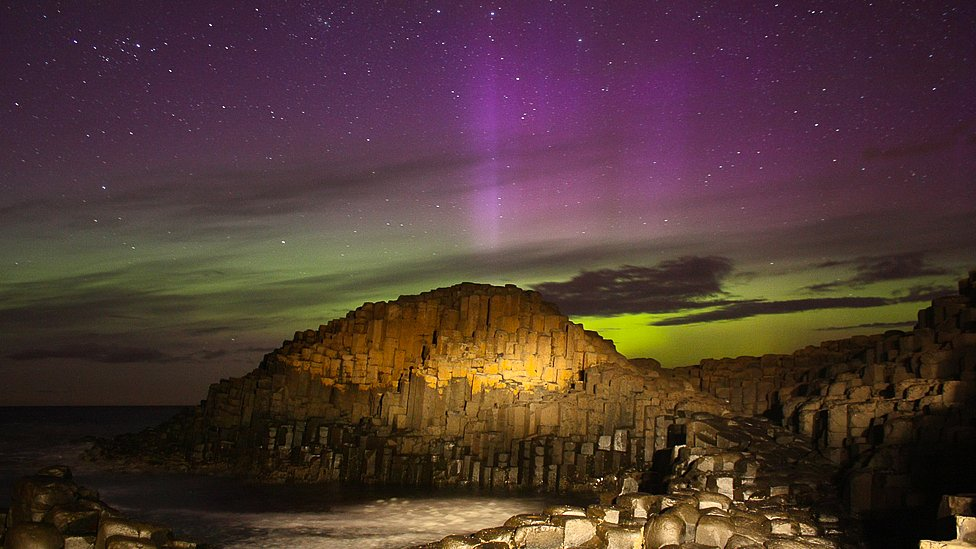 In pictures: The Aurora Borealis over Northern Ireland