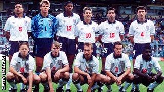 England team v Sweden