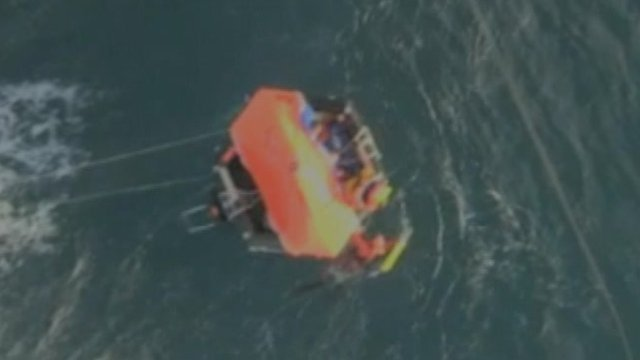 French coastguards rescue