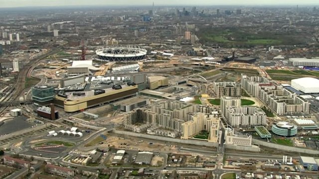 Olympic site in Newham, London
