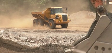 A digger at a mining area in Sierra Leone, April 2012