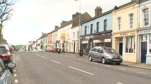 The incident happened on the Main Street in Saintfield