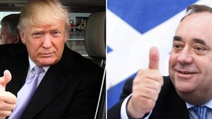 donald trump and alex salmond