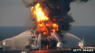 Fire at Deepwater Horizon rig