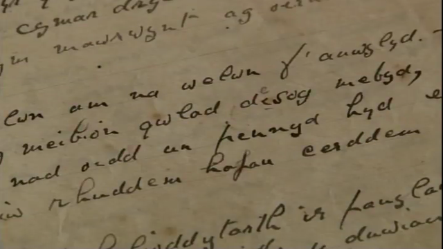 Wartime letter handwritten in Welsh