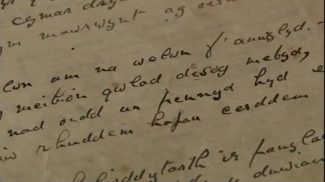 Wartime letter handwritten in Welsh