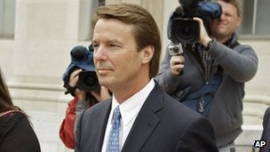 John Edwards arrives at court 24 April 2012