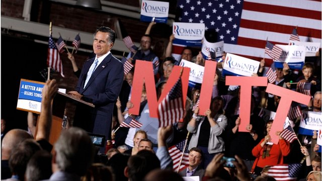 Mitt Romney speaks in New Hampshire
