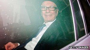 Rupert Murdoch in London