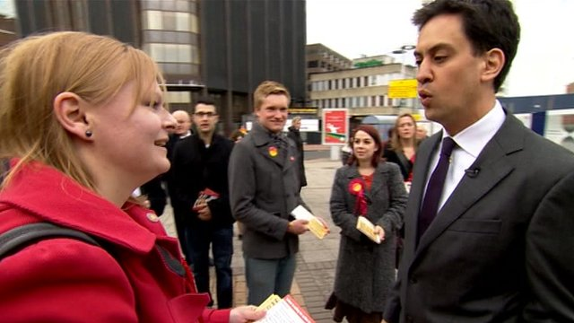 Ed Miliband meets voters in Reading