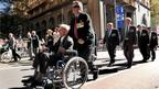 Veterans march down Sydney's George Street on 25 April, 2012 to honour their war dead