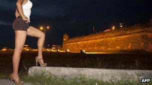 Sex worker in the Colombian city of Cartagena20 April 2012