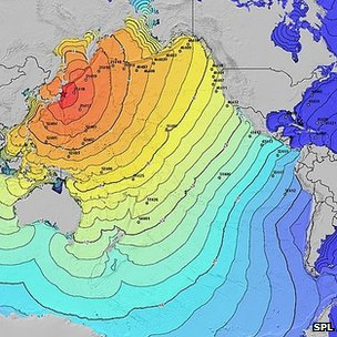 Tsunami travel times following Tohoku earthquake