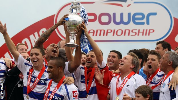QPR celebrate Championship win