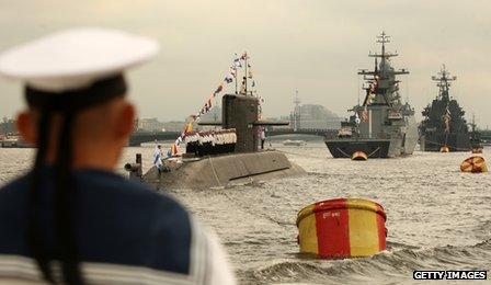 Russian naval parade