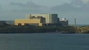 Wylfa nuclear power station on Anglesey