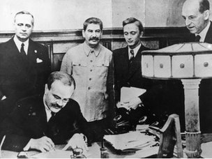 Signing of the Soviet-Nazi Non-Aggression Pact