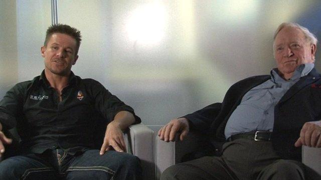 Felix Baumgartner and Colonel Joe Kittinger