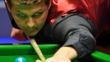 Ryan Day plays a shot in his win over Ding Junhui