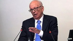 Rupert Murdoch at Leveson