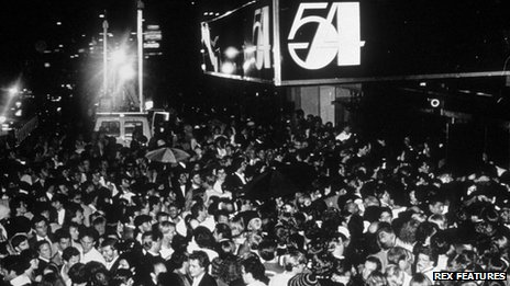 Crowds outside Studio 54