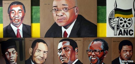 Portraits of current and former African National Congress presidents