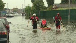 East Belfast flood