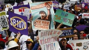 Anti-SB1070 protesters