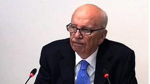 Rupert Murdoch giving evidence
