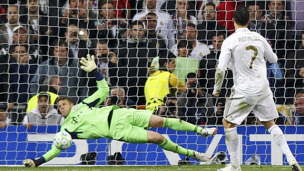 Ronaldo's penalty is saved by Neuer