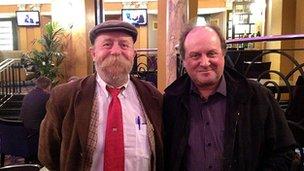 Jame meets Pete Lazenby