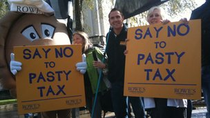 Pasty tax protesters