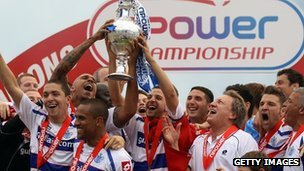 QPR celebrate Championship win and promotion to Premier League in 2011