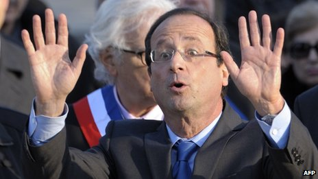 French Socialist leader Francois Hollande (24 April 2012)