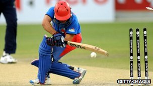 The ICC World Twenty20 qualifier final between Ireland and Afghanistan at the Dubai International Cricket Stadium on March 24, 2012 in Dubai, United Arab Emirates