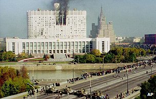 Army assault on parliament in Moscow