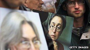 Posters of Anna Politkovskaya