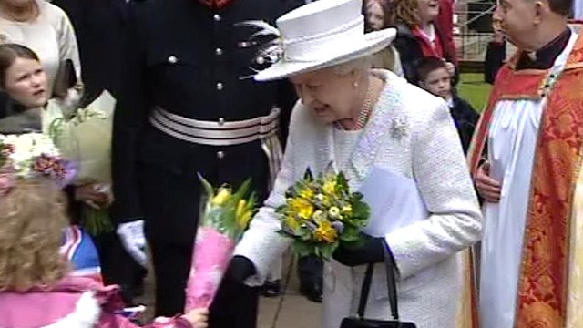 The Queen in Cardiff