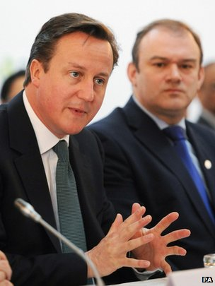 David Cameron and Ed Davey