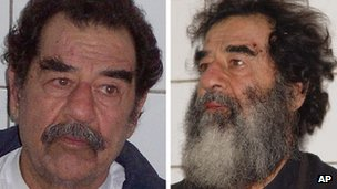 Picture of Saddam Hussein after he was captured