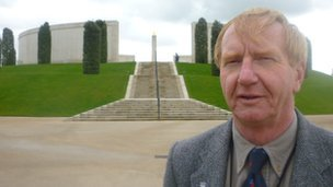 Paul Kennedy near the Armed Forces Memorial