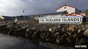 Falkland Islands sign
