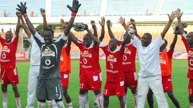 Simba players celebrate prematurely