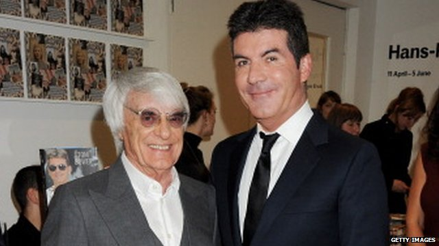 Bernie Ecclestone and Simon Cowell