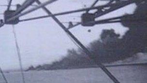 HMS Dasher sinking