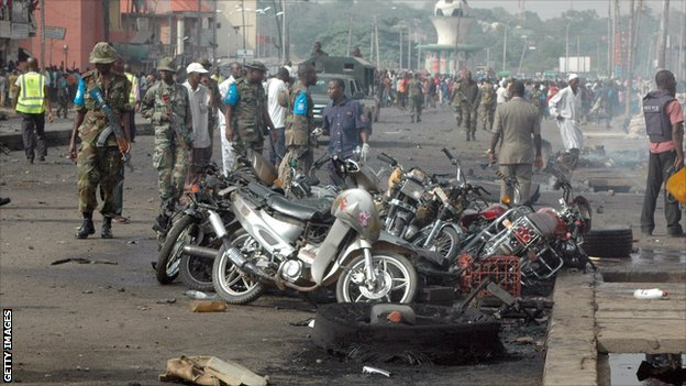 The aftermath of the Easter bomb blast in the Nigerian city of Kaduna
