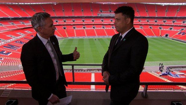 BBC Sport's Gary Lineker meets Brazilian football legend Ronaldo